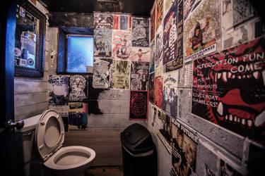 Punk Rock Bathroom by digitaltwist