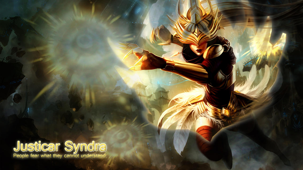 Justicar Syndra Wallpaper by LittleAvani on DeviantArt
