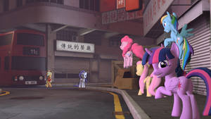 SFM HD Mane 6 - On the Quest to BronyCon