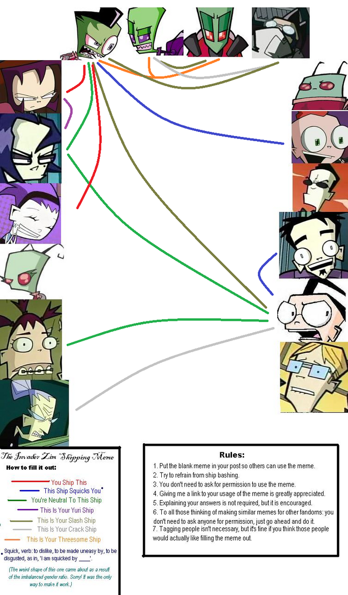 Invader Zim Shipping Meme By Tallest Ariva