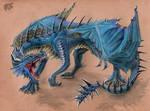 Dark-boned abyssal dragon by Behane