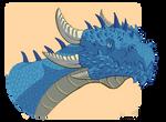 Portrait of a blue dragon