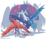 Smaugust 20 - Latias and Latios