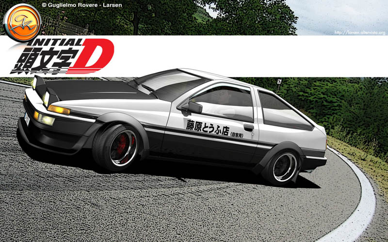 3d ae86 initial d toyota by larsengr on deviantart - Ae86 initial d wallpaper ...