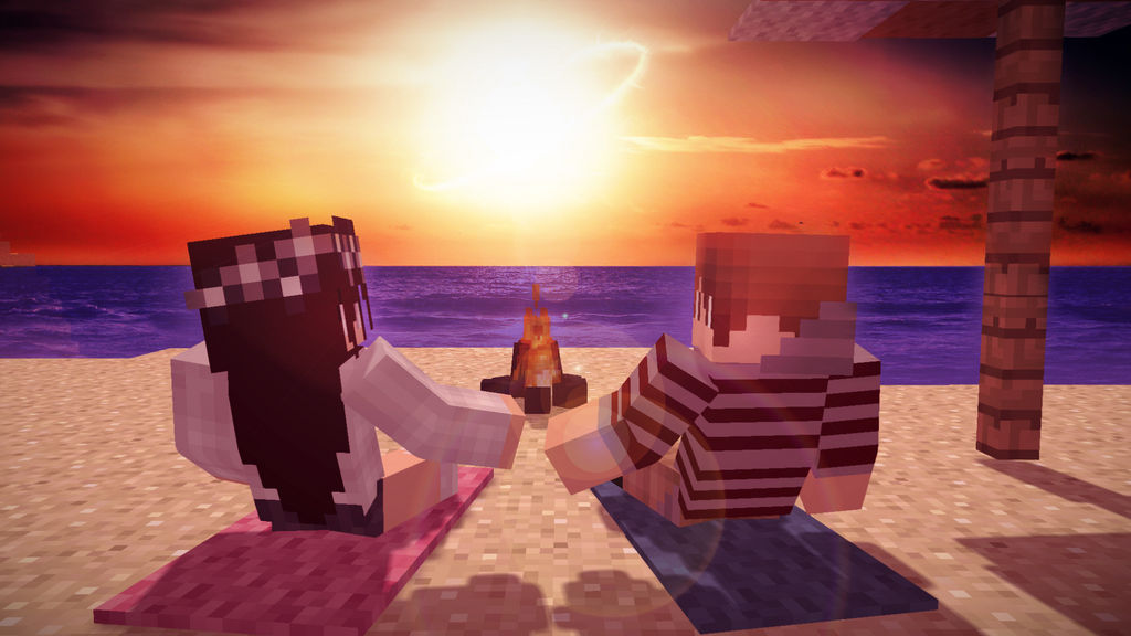 Minecraft Wallpaper Beach Sunset By Weezimonkey On Deviantart
