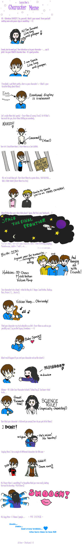 Character meme Spock by musingpadawan