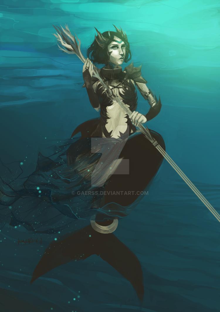 Mermaid warrior - killer whale by gaerss