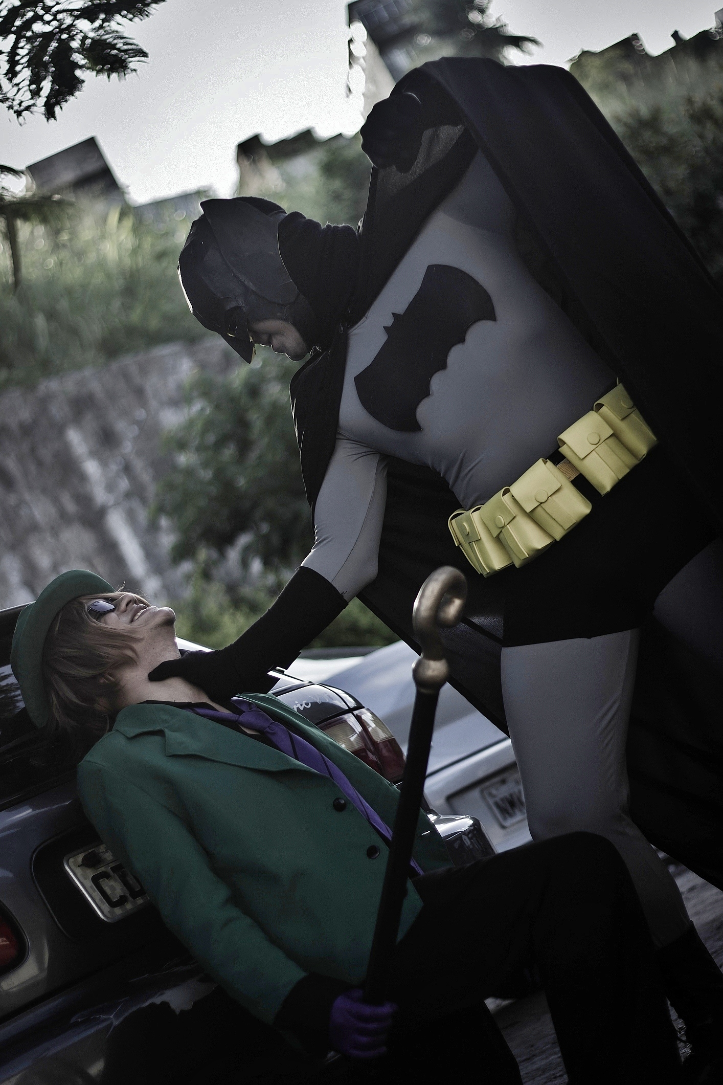 The Riddler Vs Batman - Gotham Park Fight  Pt.3 by DashingTonyDrake