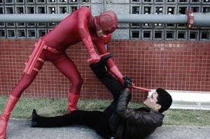 Red Hood Vs Daredevil - Parking Lot Brawl Pt.1 by DashingTonyDrake