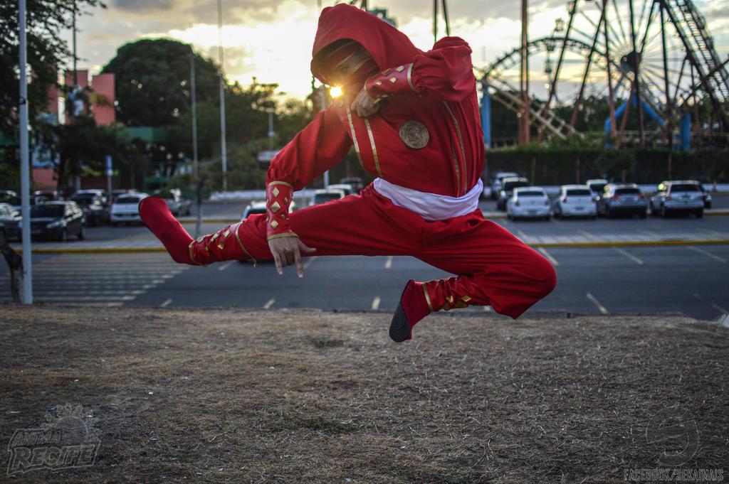 Rocky DeSantos-Red Ape Ninjetti #MMPR:TheMovie III by DashingTonyDrake