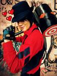 Harley Quinn - HAMMER TIME, B-MAN! by DashingTonyDrake