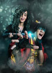 Harry Potter And Bellatrix Lestrange - Crucio! III by DashingTonyDrake