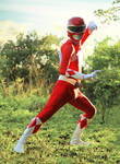 Rocky, The Red Ranger - Final Face Off #MMPR by DashingTonyDrake