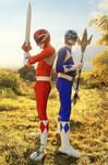 Rocky and Billy - Teamwork #MMPR by DashingTonyDrake