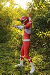 Rocky, The Red Ranger - BLADE And BLASTER! #MMPR by DashingTonyDrake