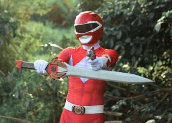 Rocky, The Red Ranger - BLADE And BLASTER! 2 #MMPR by DashingTonyDrake
