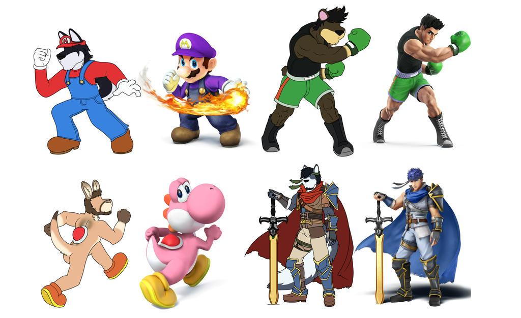 Smash Fighters 1-4 by EGZ-Jr