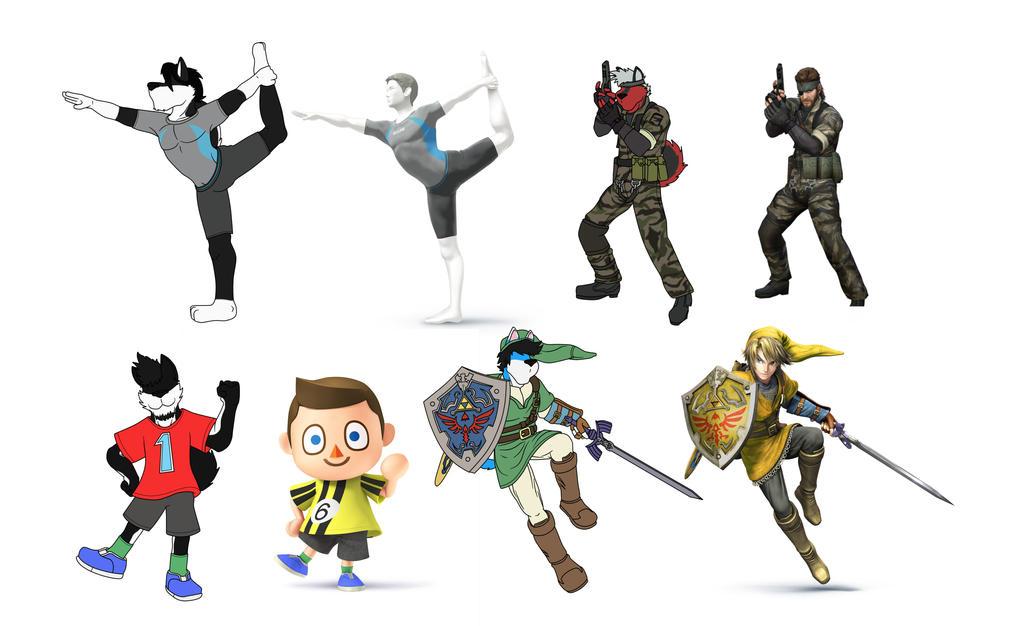 Smash Fighters 5-8 by EGZ-Jr