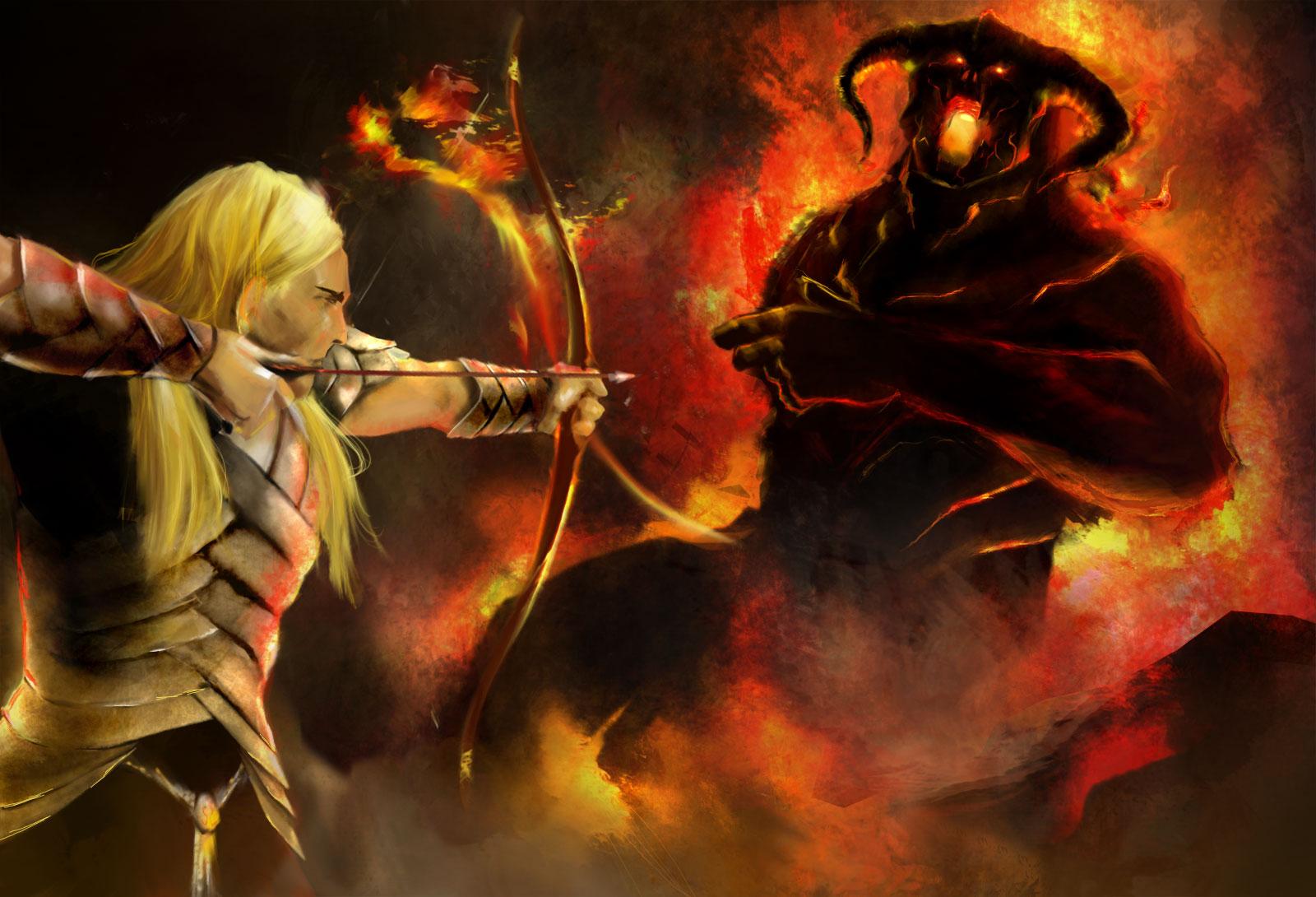 Glorfindel-vs-the-Balrog by HectorBetancur on DeviantArt
