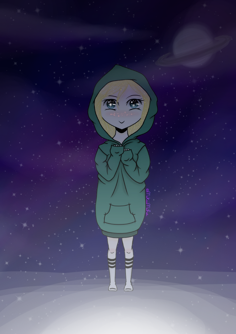 Hoodie in Space by MikiiMiha