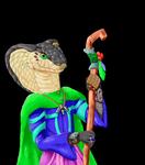 Izsosa: Nagaji Priestess of Pulura by EonDragon20