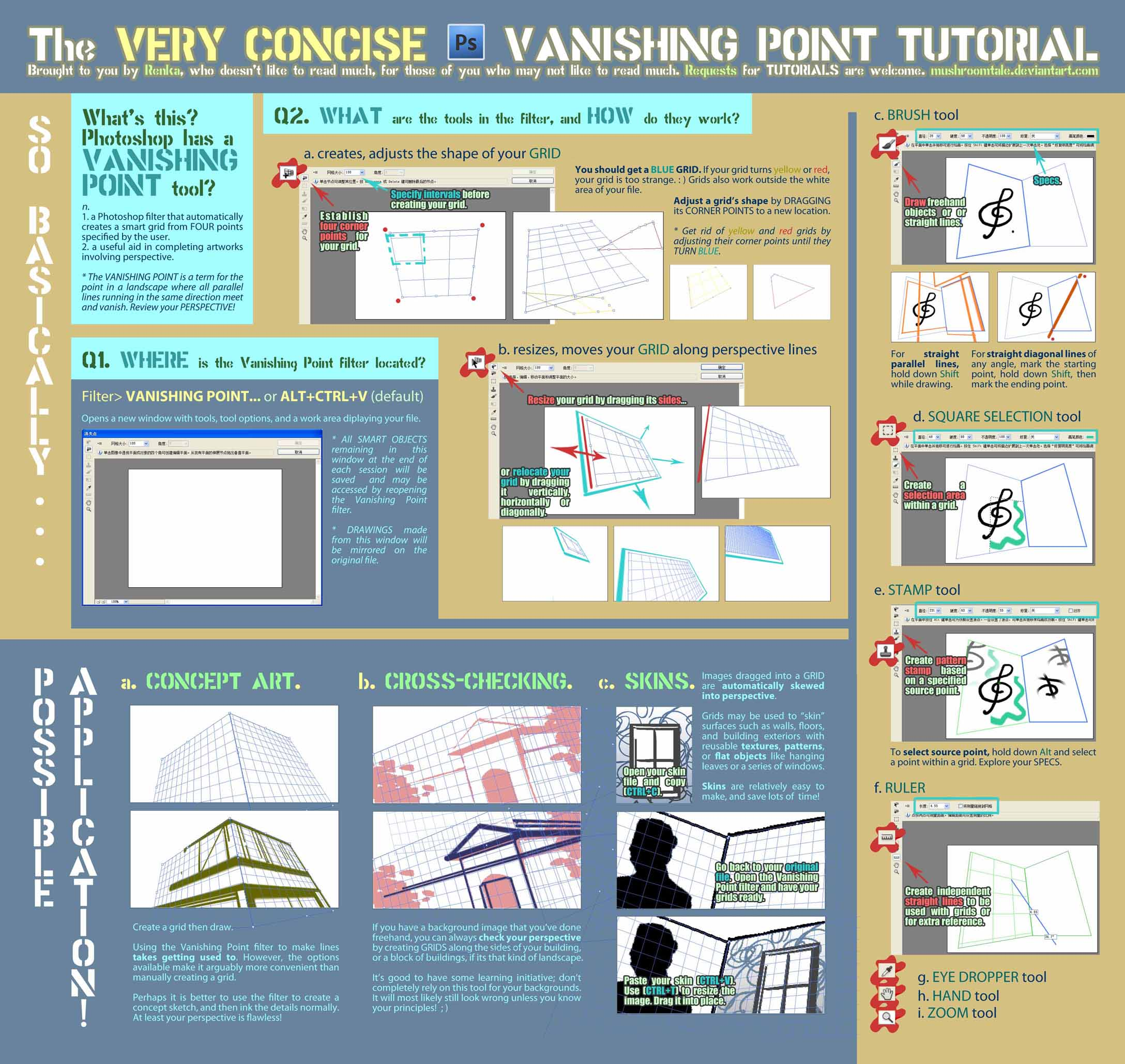 Concise Tutorial: Vanishing Pt by mushroomtale