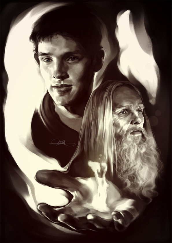 Fanart: Merlin 002. by mushroomtale