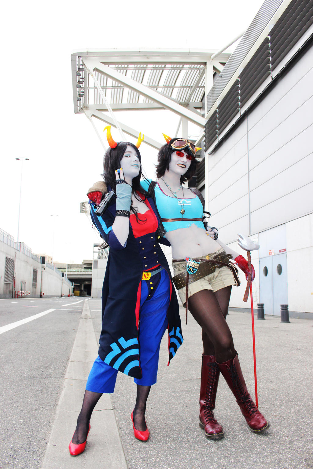 Flarping Partners - Terzi and Vriska by Kim-T-Mikk