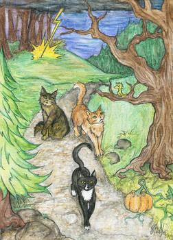 Haunted Cat Adventure - Commission for Terica