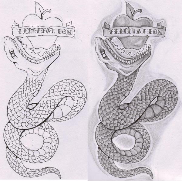 Eden snake tattoo flash by the taste of blood on deviantart for Garden of eden tattoo
