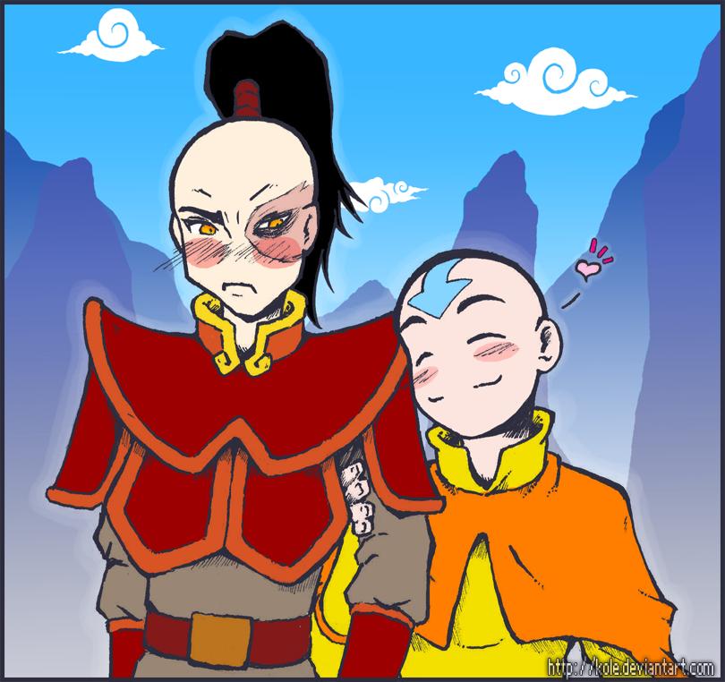 Aang:Hearts:Zuko 1.0 by kole on DeviantArt Zuko And Aang Yaoi