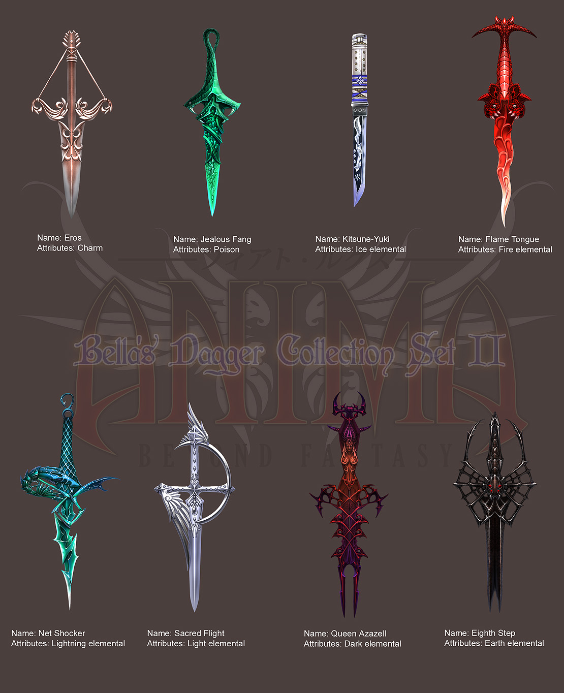 Anima: Bella's Daggers set 2 by Wen-M