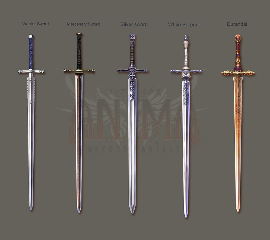 Anima: Knight swords set 1 by Wen-M