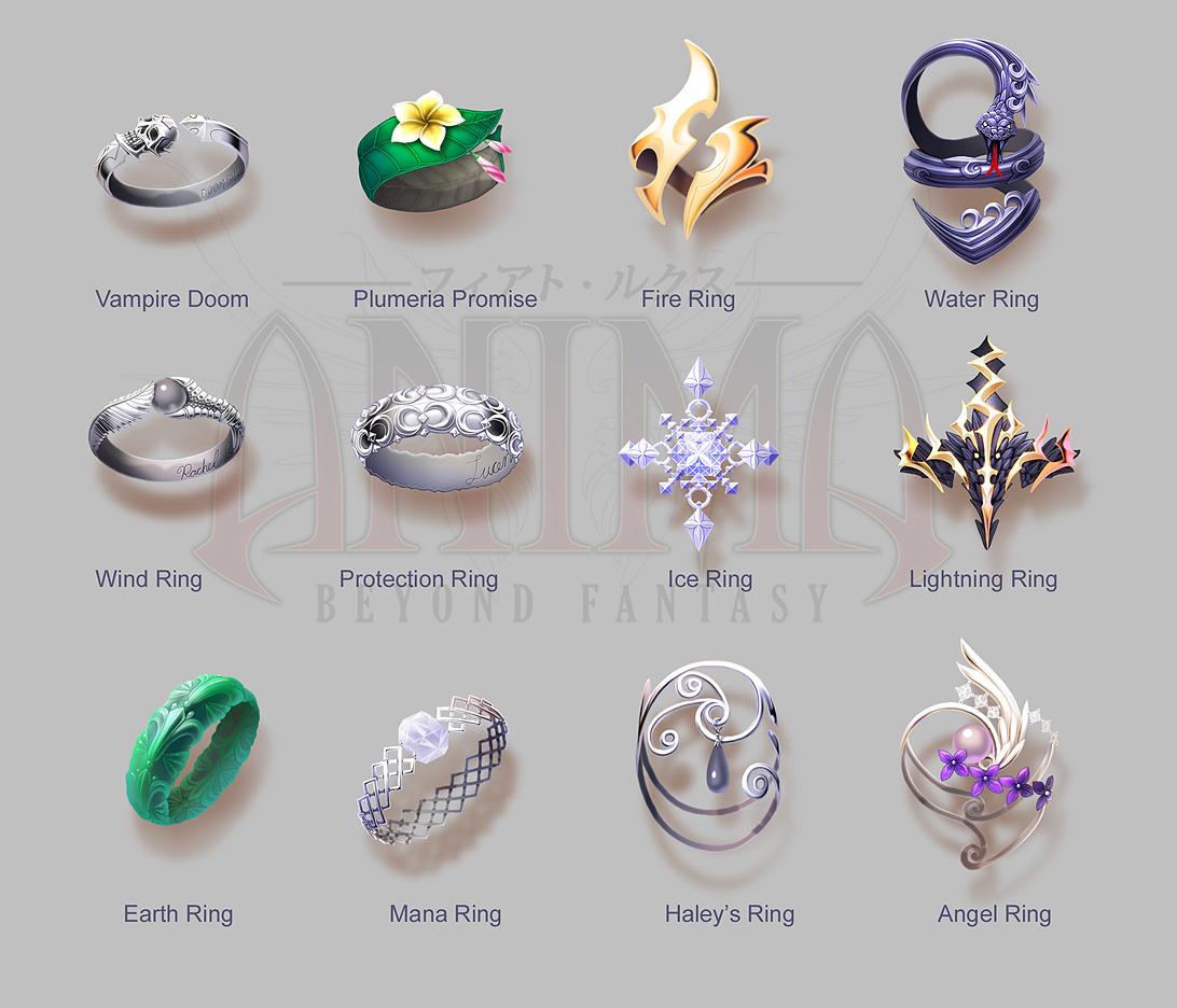 Anima: Rings set 1 by Wen-M
