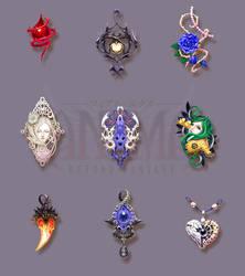 Anima: pendants set 1 by Wen-M