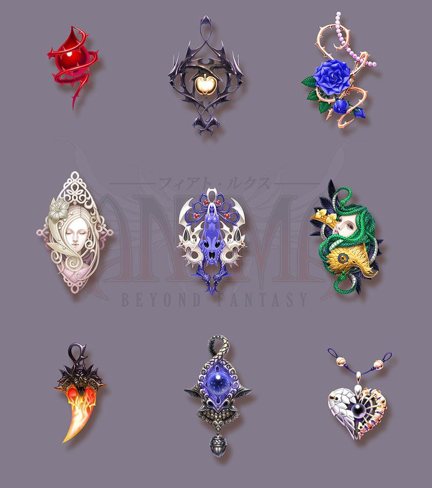 Anima: pendants set 1 by Wen-M