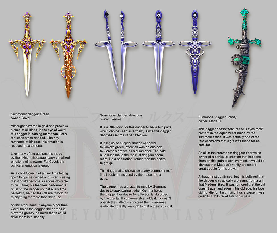 Anima: summoner daggers by Wen-M
