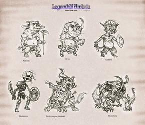 LouSB: monsters set 1 by Wen-M