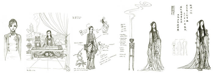 XiaoXian sketches by Wen-M