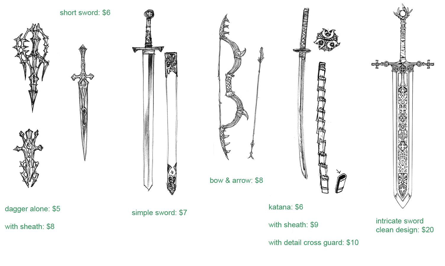 weapon sketch sample by Wen-M on DeviantArt