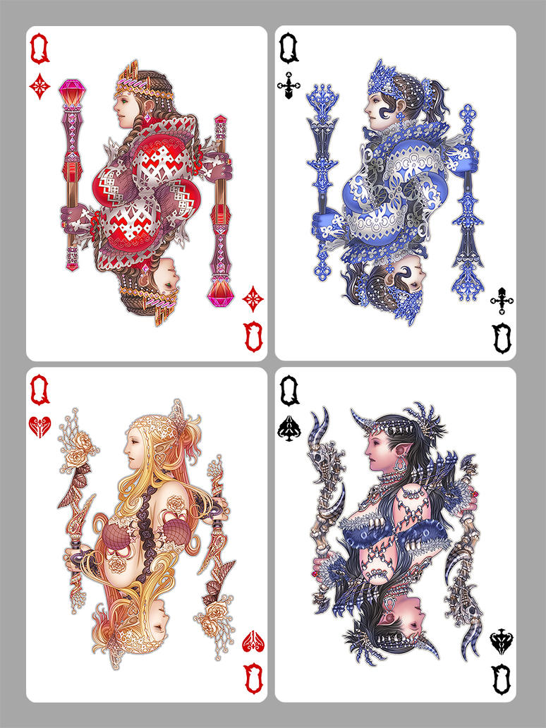 Card Deck With Guidebook By: Playing Cards + Art = Collecting • Medusa Playing Cards