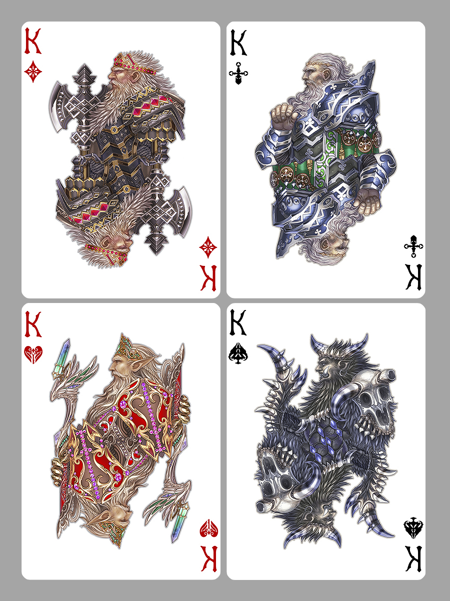Playing Cards Kings By Wen M On Deviantart