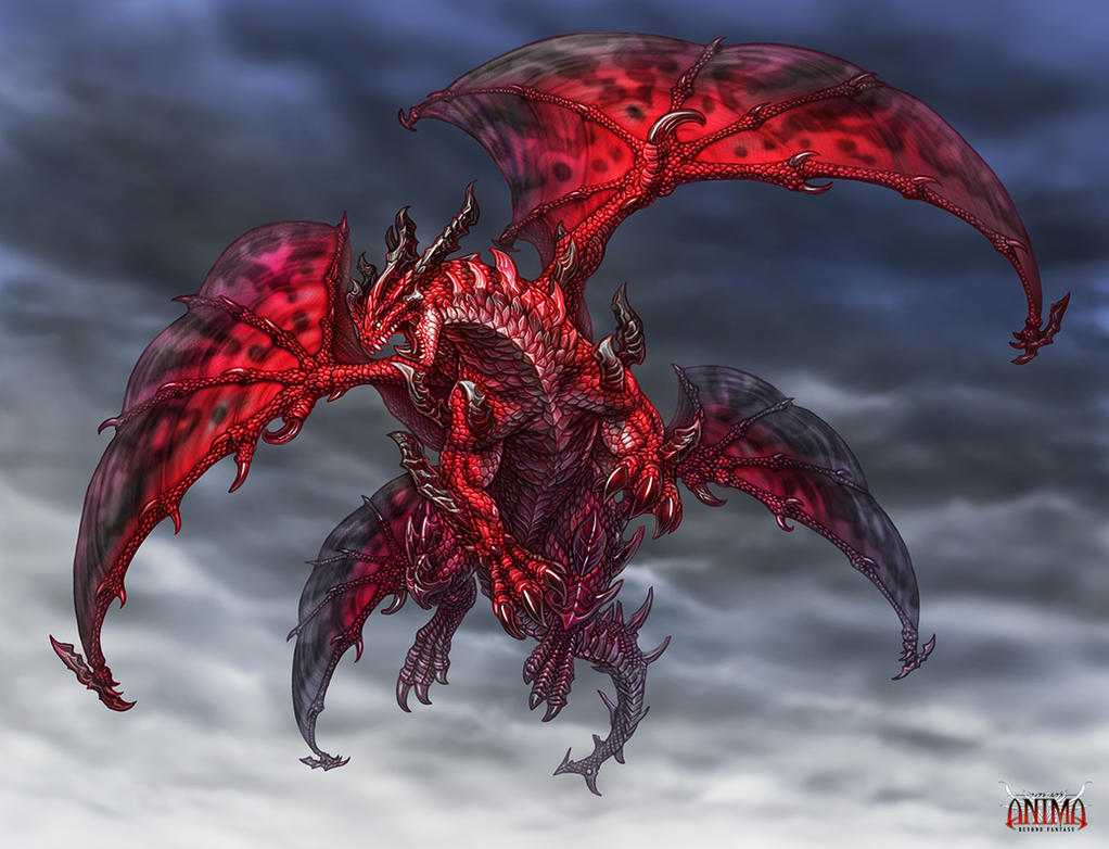 Anima Red dragon by WenM on DeviantArt