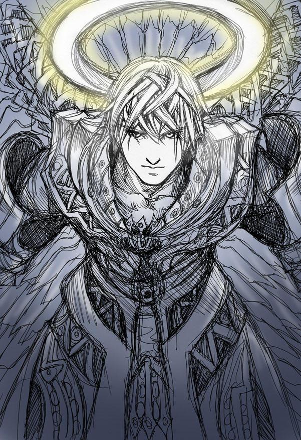 Sketch of Uriel by Wen-M