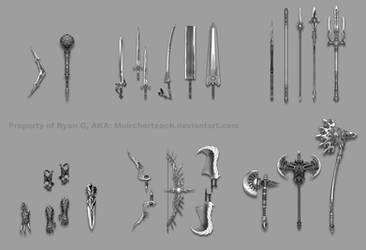Weapon commission: the Muircherteach set by Wen-M