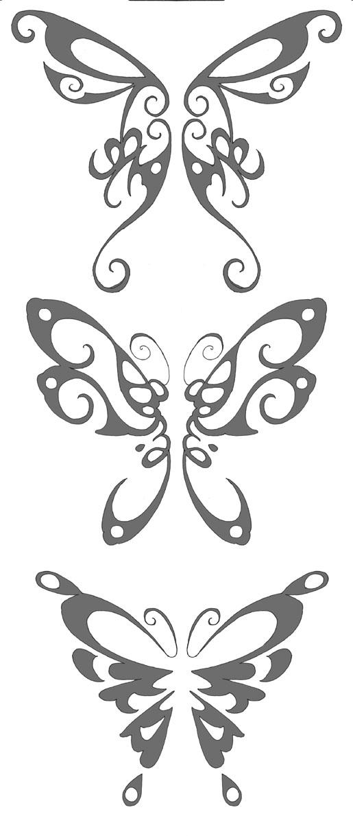 Names in butterlies - butterfly tattoo