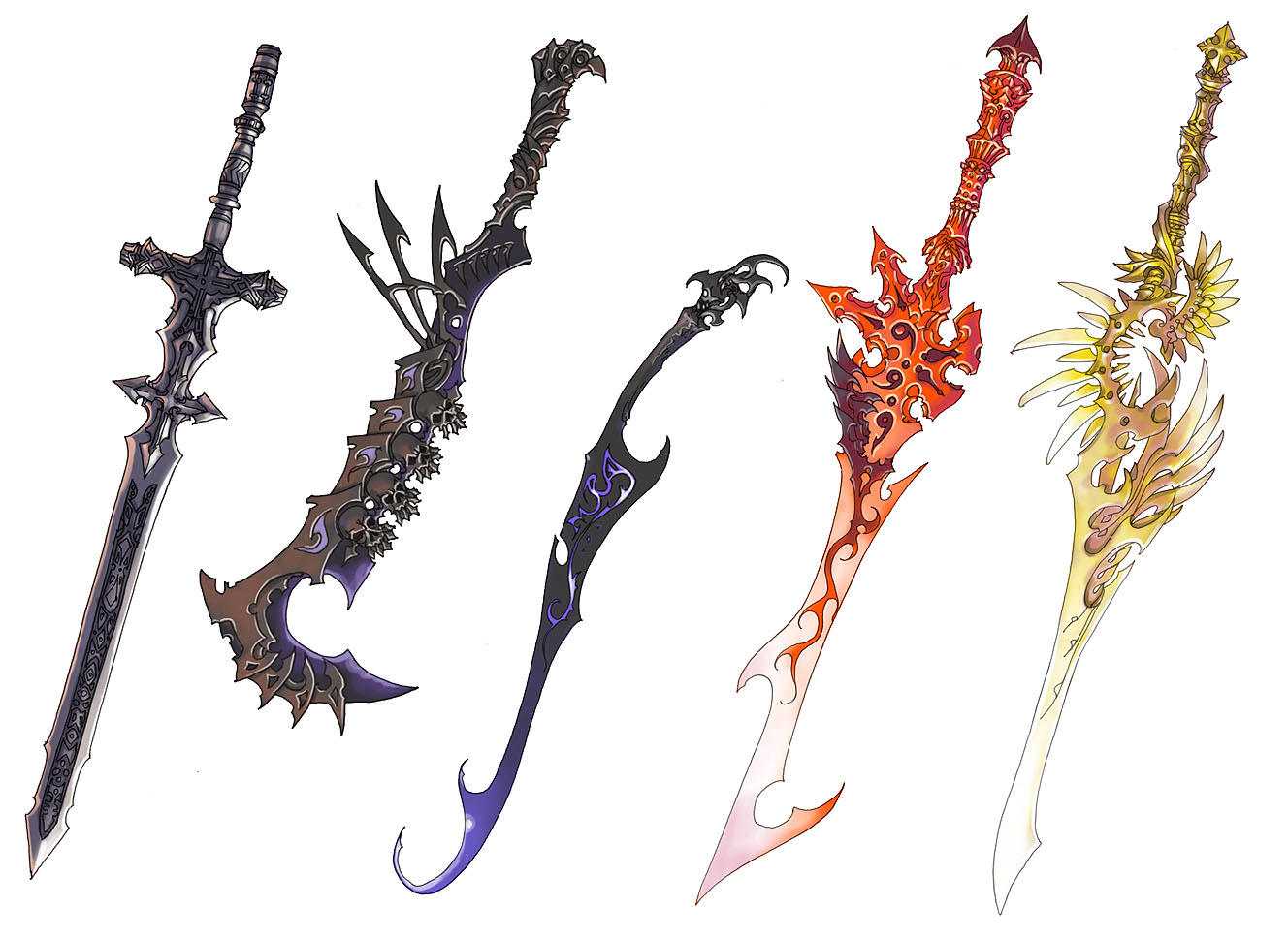 sword designs by Wen-M on DeviantArt
