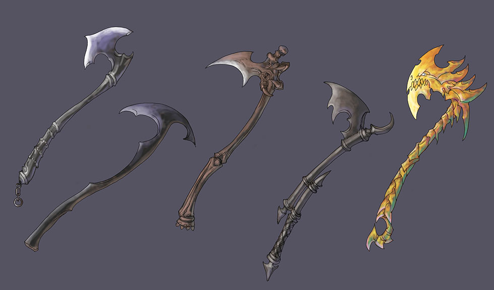 one handed axes by Wen-M on DeviantArt