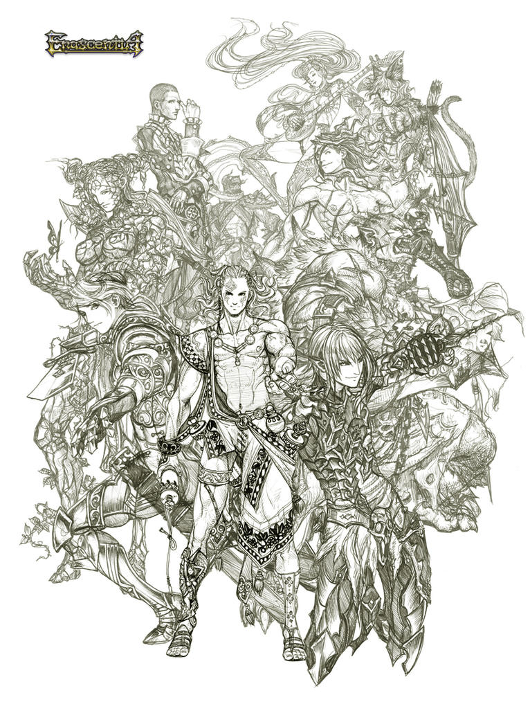 Enascentia: full cast sketch by Wen-M