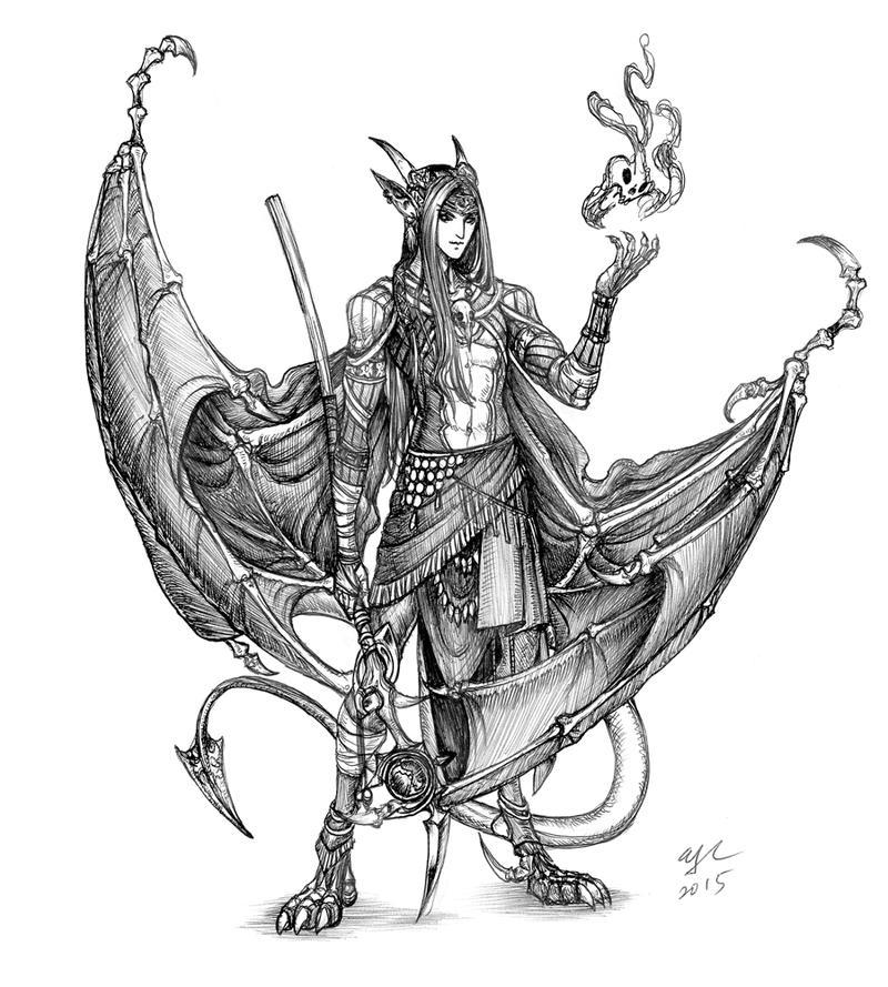 Birthday sketch: Meph by Wen-M